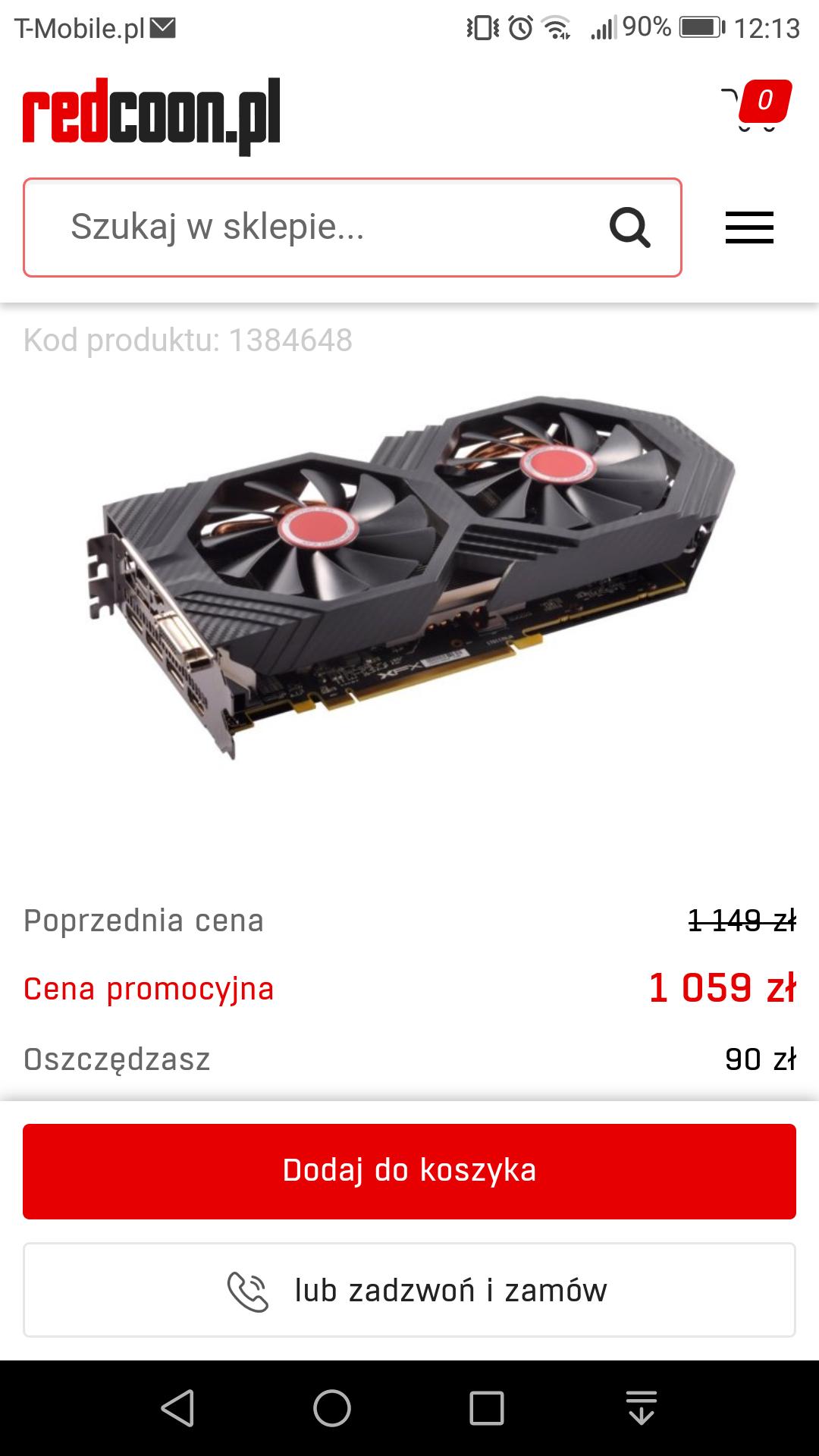 Karta graficzna XFX Radeon RX 580 GTS XXX 8GB za 1059zł @redcoon
