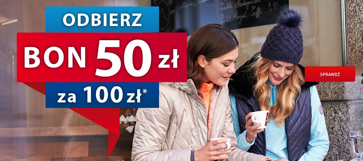 Intersport bon 50 zł za każde wydane 100 zł