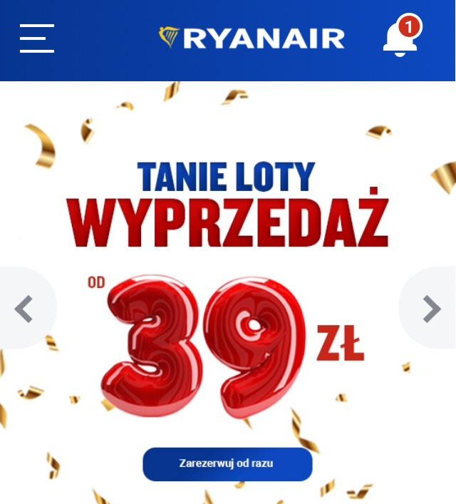 Wyprzedaż w Ryanair