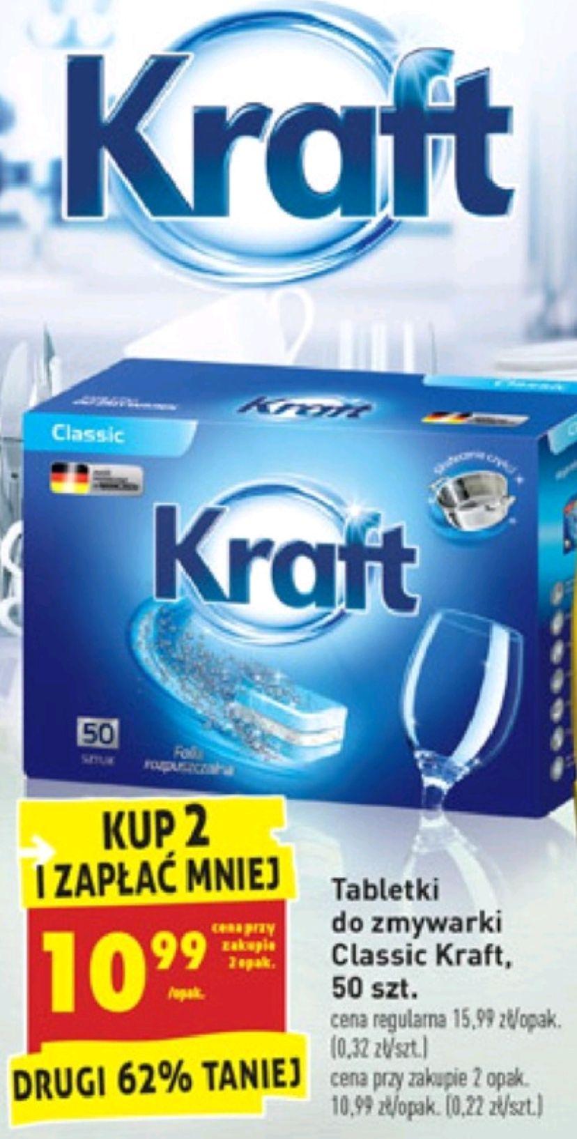 Tabletki KRAFT do zmywarki -100szt. za 0.22 gr/ szt. BIEDRONKA