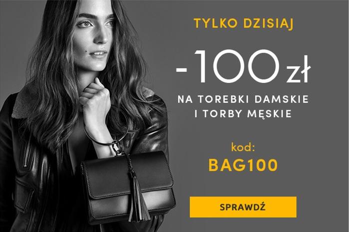 Rabat 100 zł na torebki w WOJAS + darmowa dostawa
