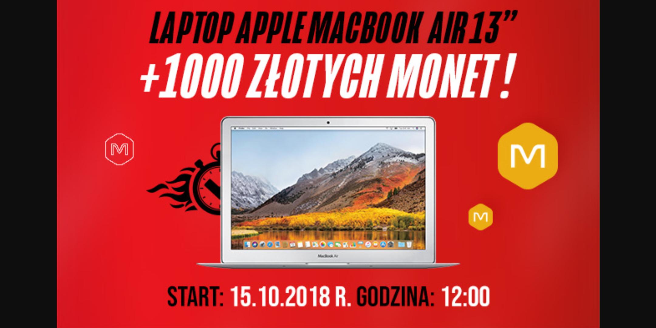 Apple MacBook Air MQD32ZE/A 13' w szybkich okazjach allegro! Start 15.10 godziny 12.00