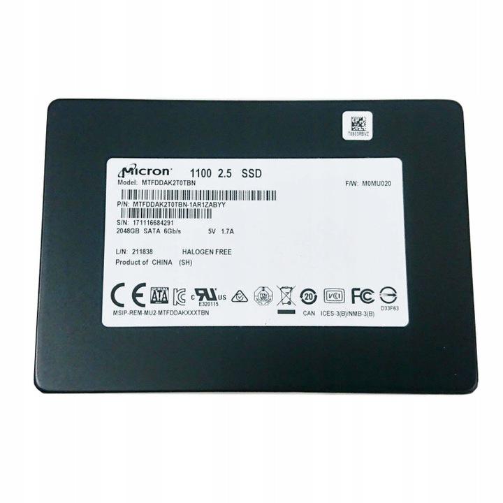 Dysk SSD Micron 1100 2TB 3D NAND 530/500