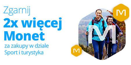 Allegro 2x więcej Monet za zakupy w dziale Sport i turystyka