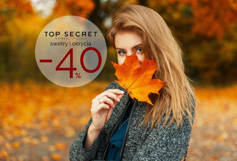 Top Secret: 40% rabatu z okazji urodzin sklepu.