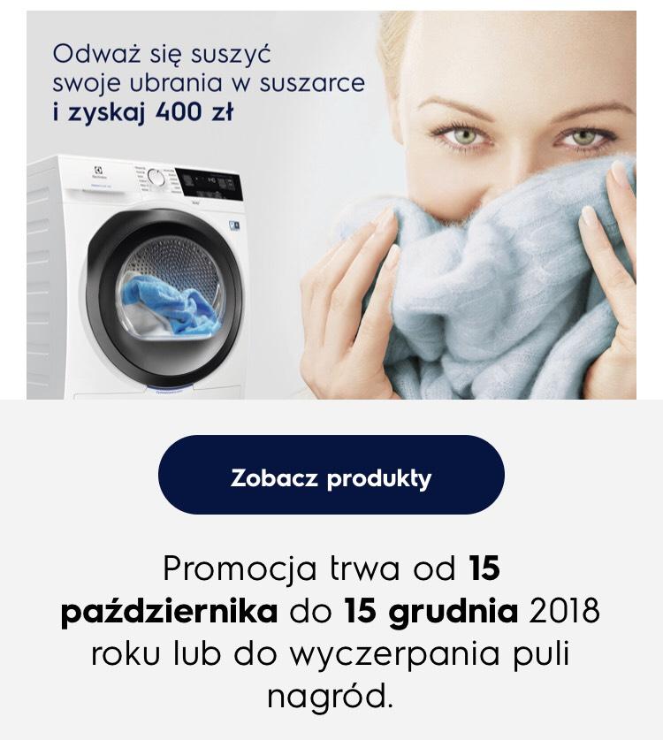 -400zl za zakup suszarki Elektrolux w euro RTV AGD