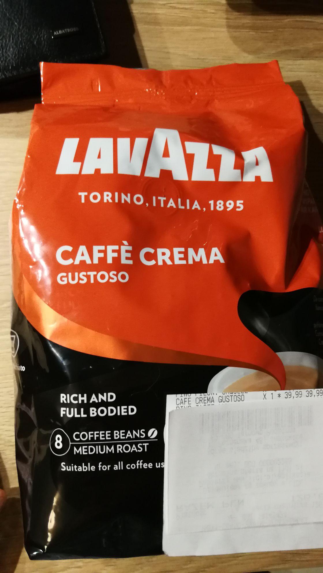 Lidl Lavazza caffe crema gustoso 1kg