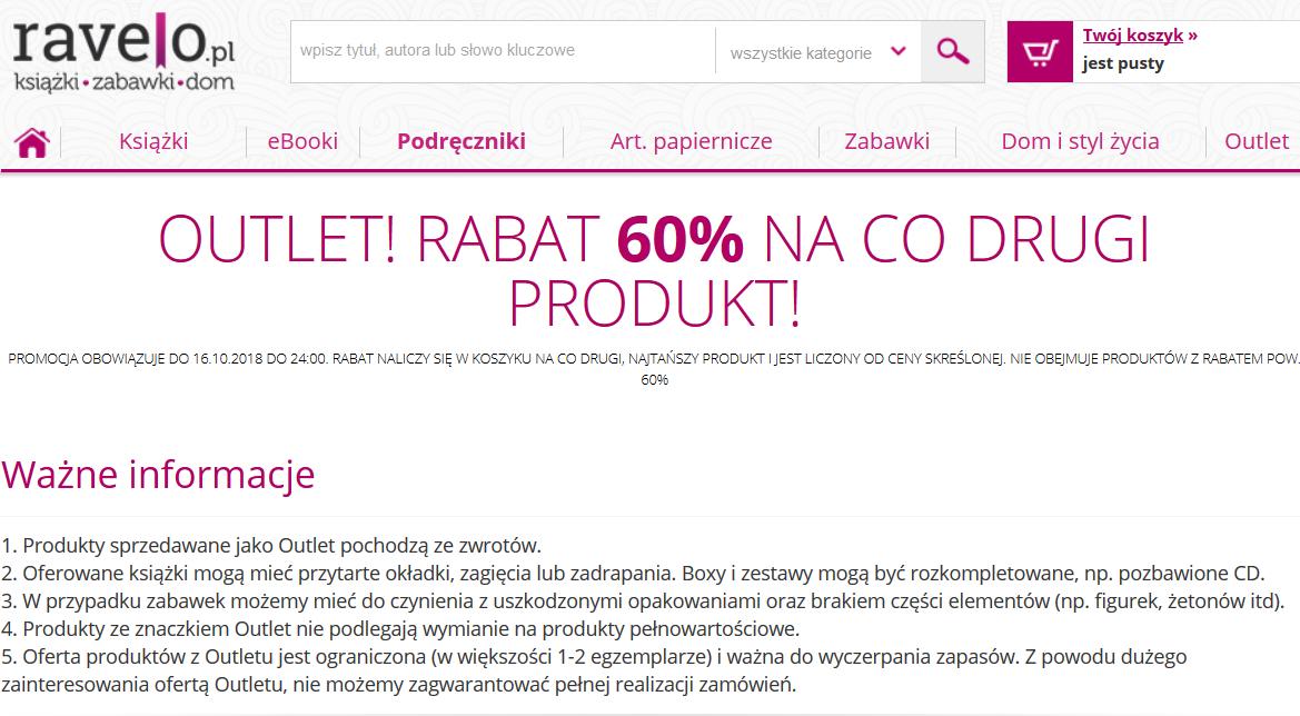 Ravelo.pl - Outlet! Rabat 60% na co drugi produkt