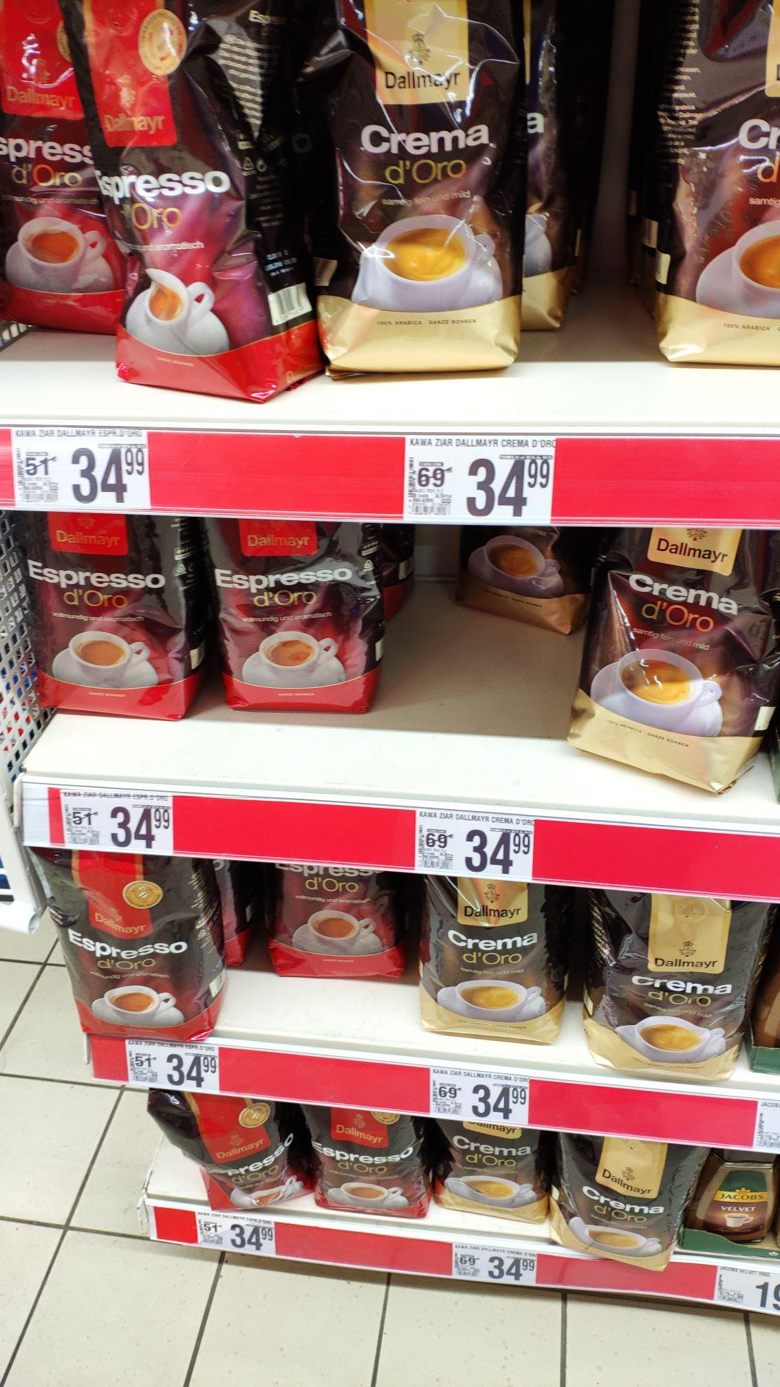 Dallmayr Espresso i Crema Kawa 1kg w Simply i Auchan