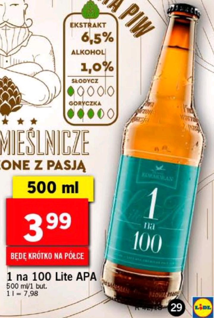 Piwo 1 na 100 w Lidlu za 3,99