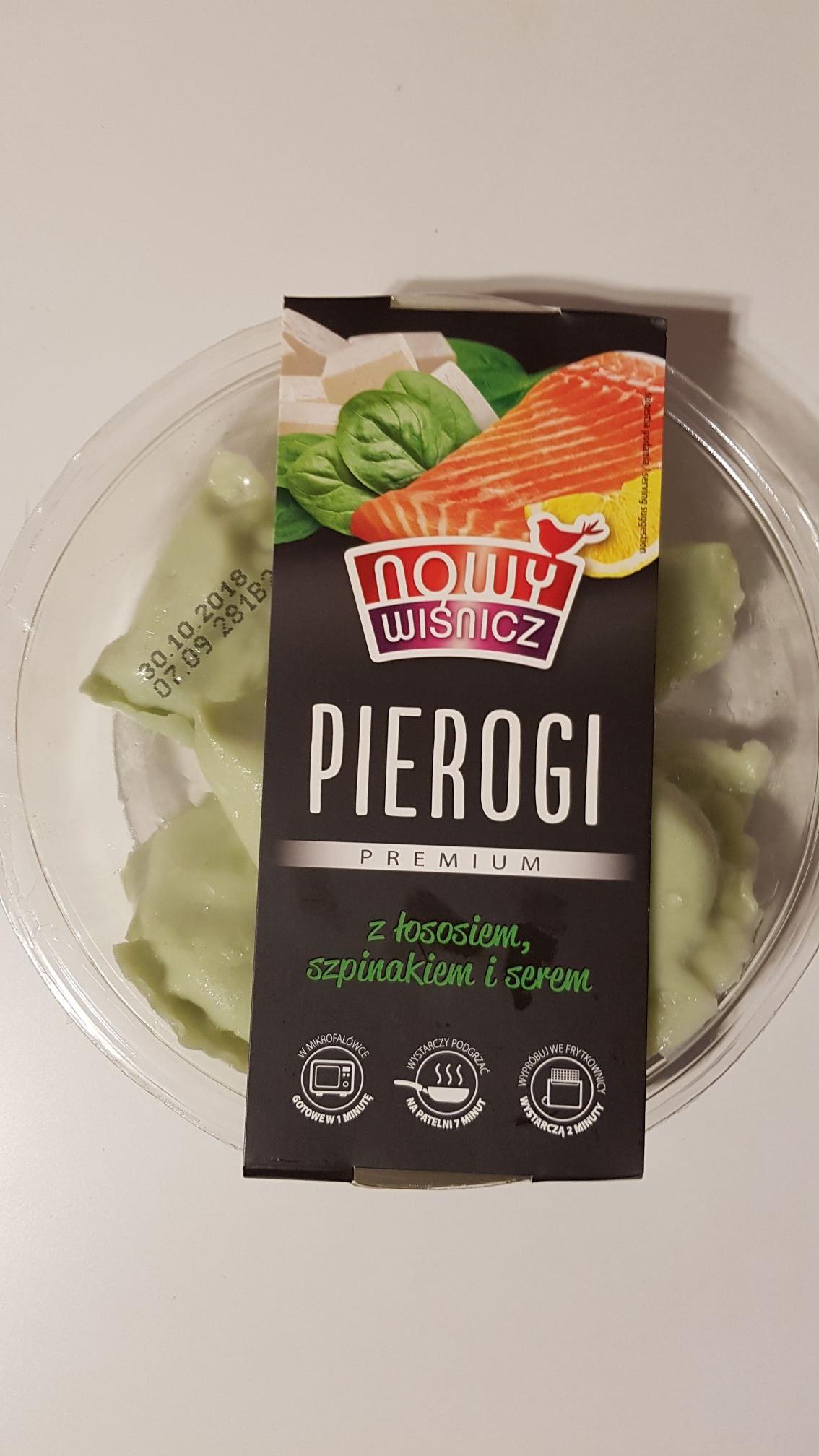 Pierogi z łososiem szpinakiem i serem Auchan Wrocław
