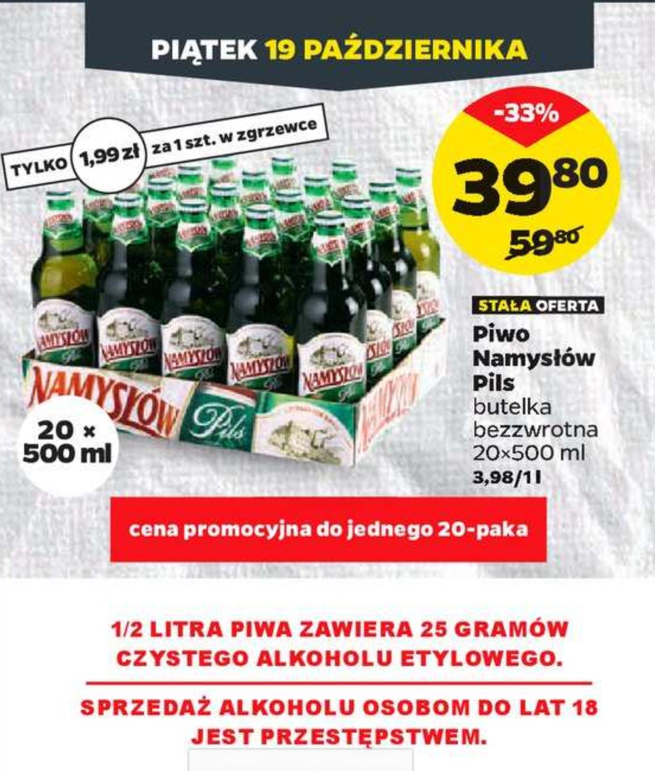 Piwo Namysłów  - Netto