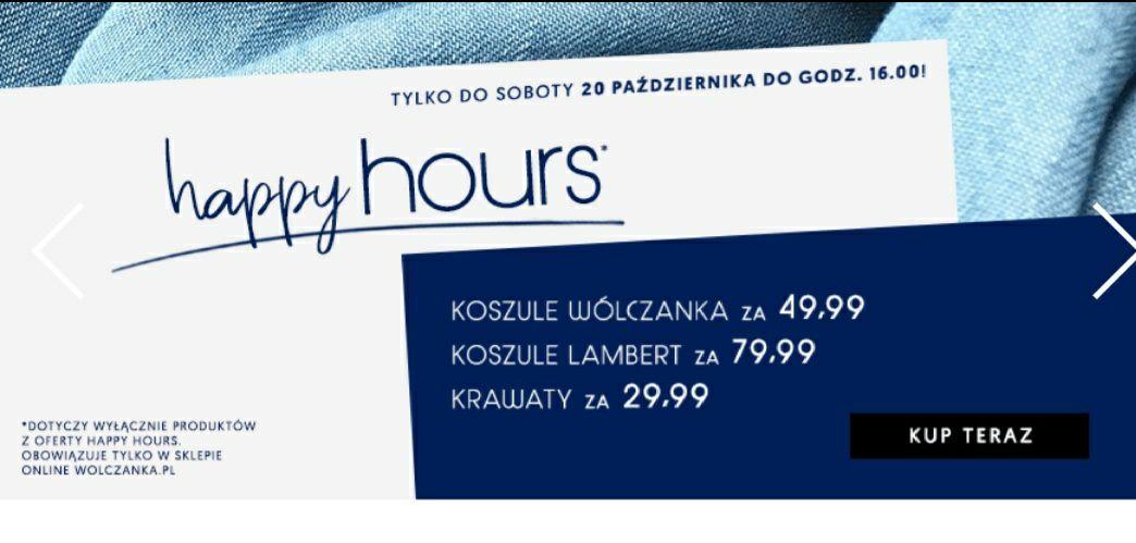 Wòlczanka koszule po 49.99 zł Happy Hours obniżka cen