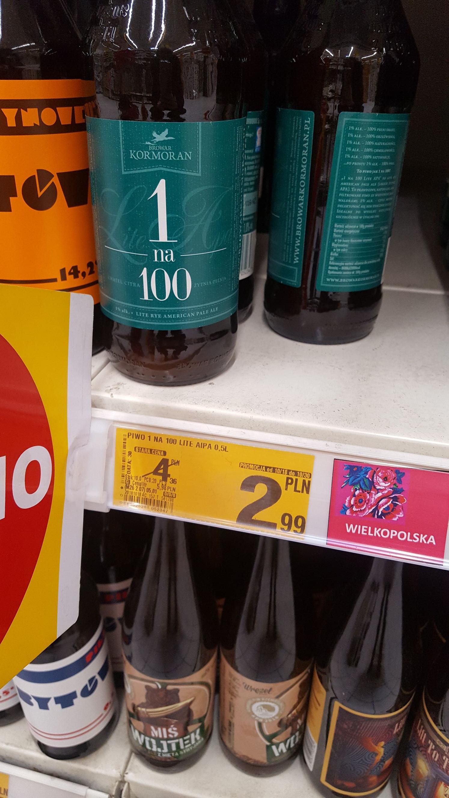 1 ze 100, dobre piwko 1% @ Auchan (Zabrze)