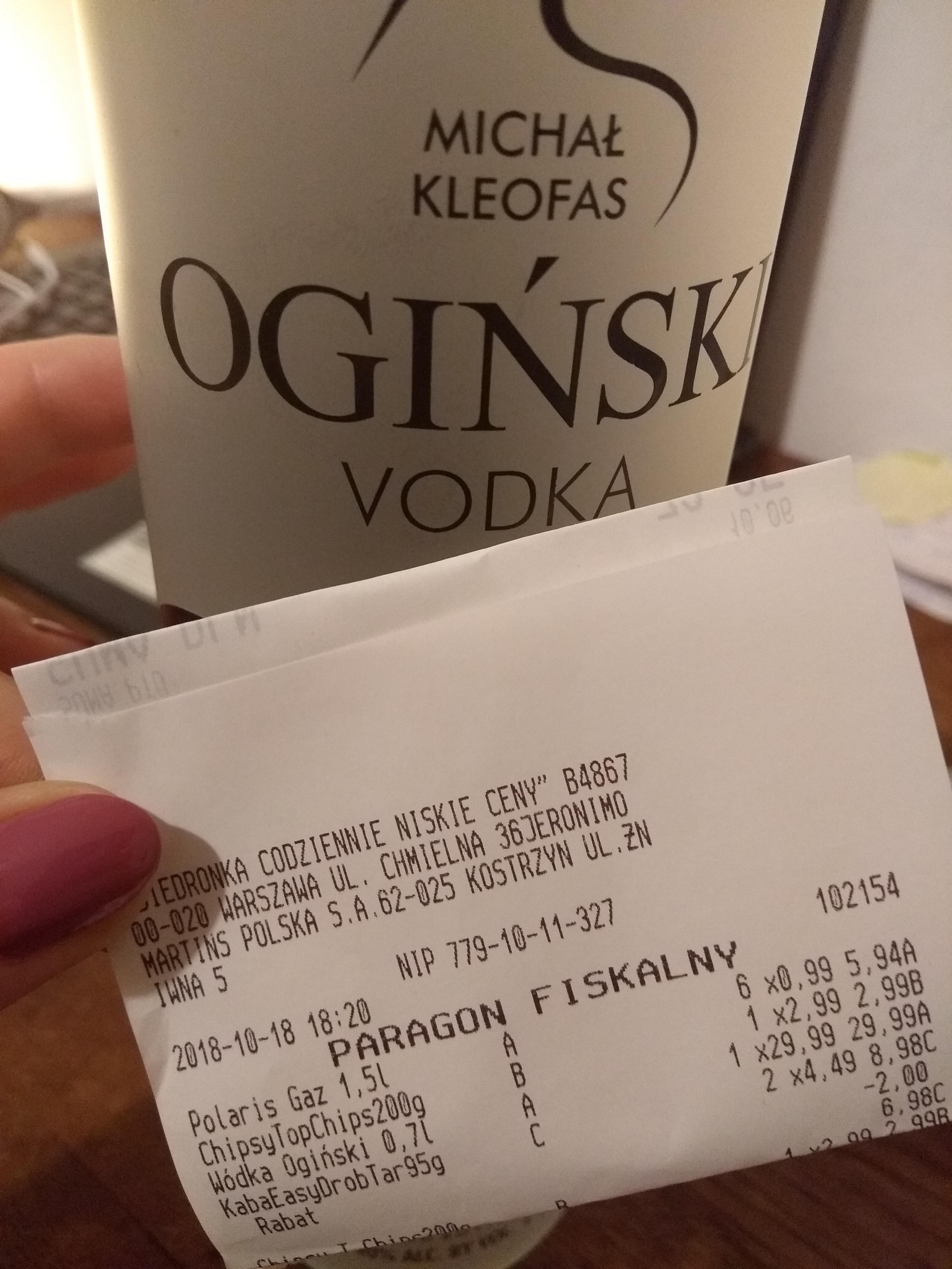 Wódka Ogiński 0.7L @ Biedronka