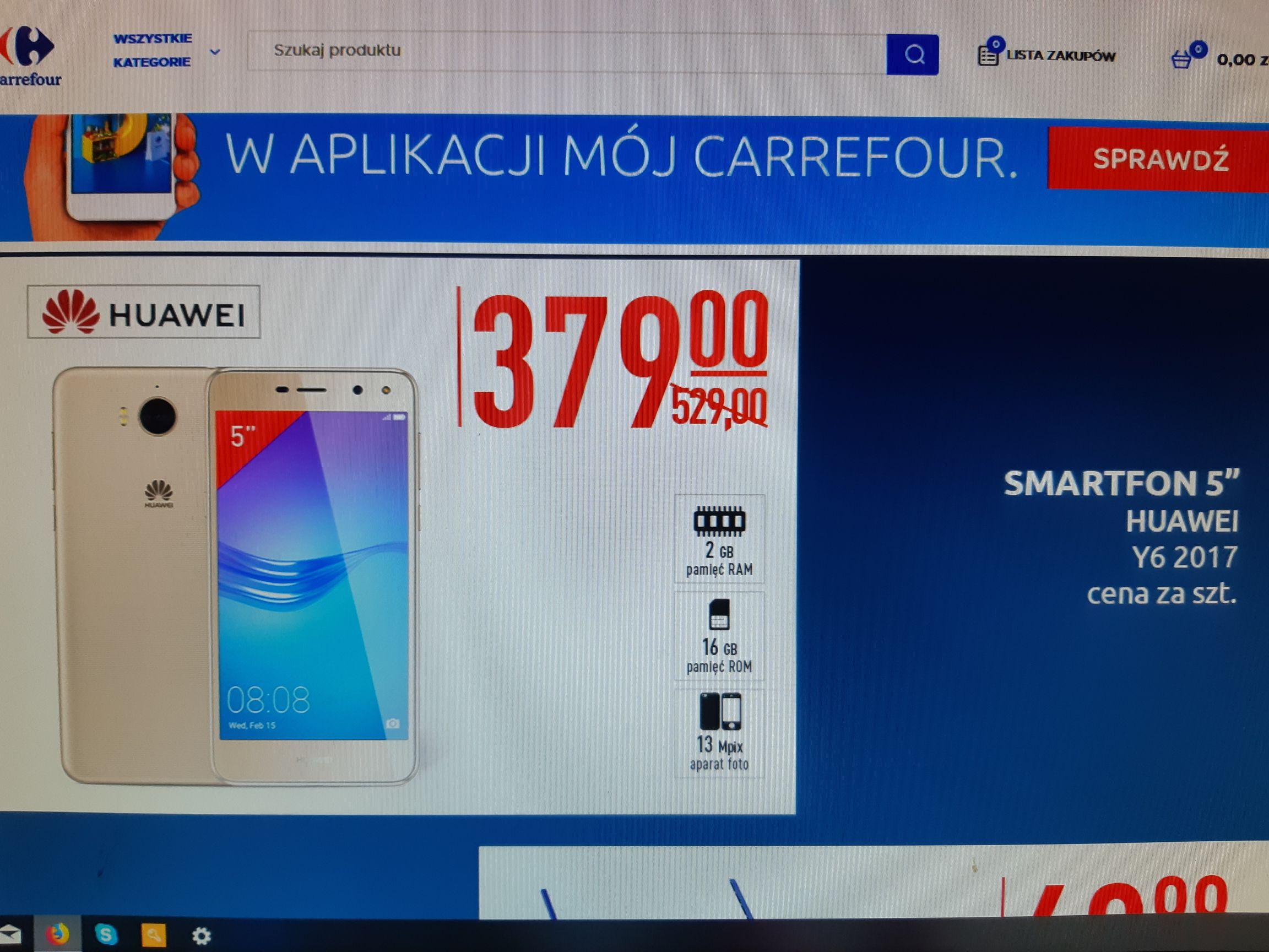 Smartphone Huawei Y6 2017 #Carrefour