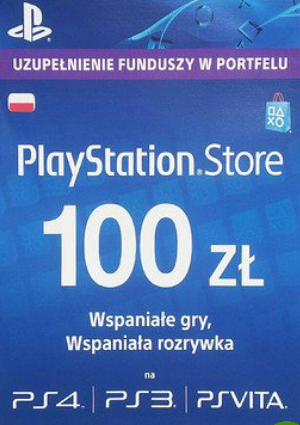 PlayStation Network Karta PSN - 100 zł