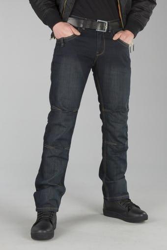 Spodnie Motocyklowe Jeans Course Drift Aramid Ciemnoniebieskie
