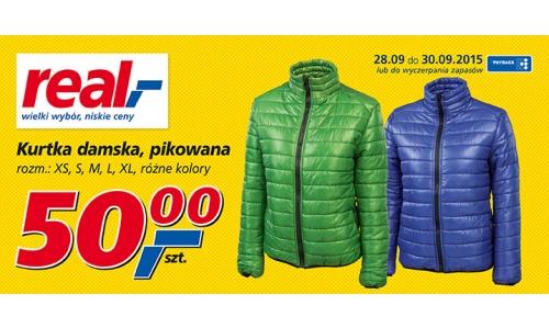 Pikowane kurtki damskie za 50zł @ Real
