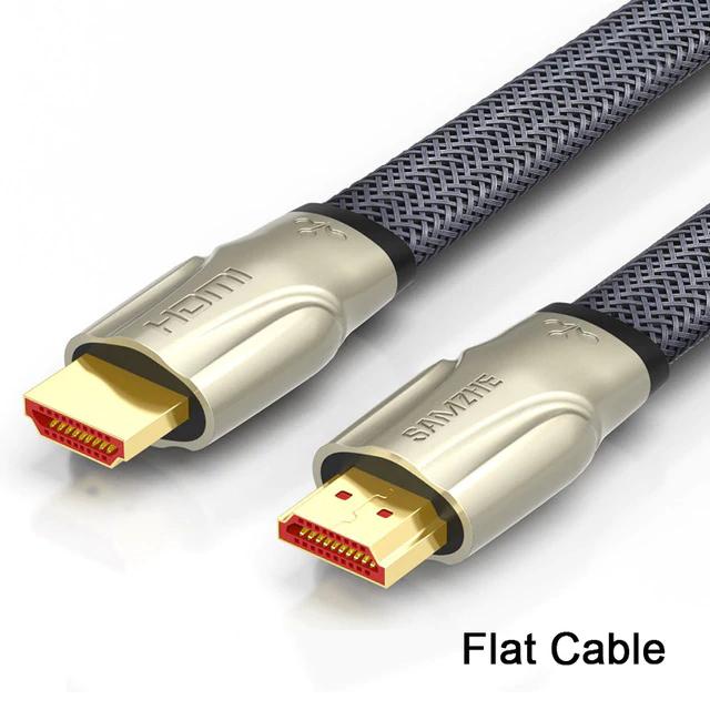 Kabel HDMI 2.0 płaski w oplocie SAMZHE 1m