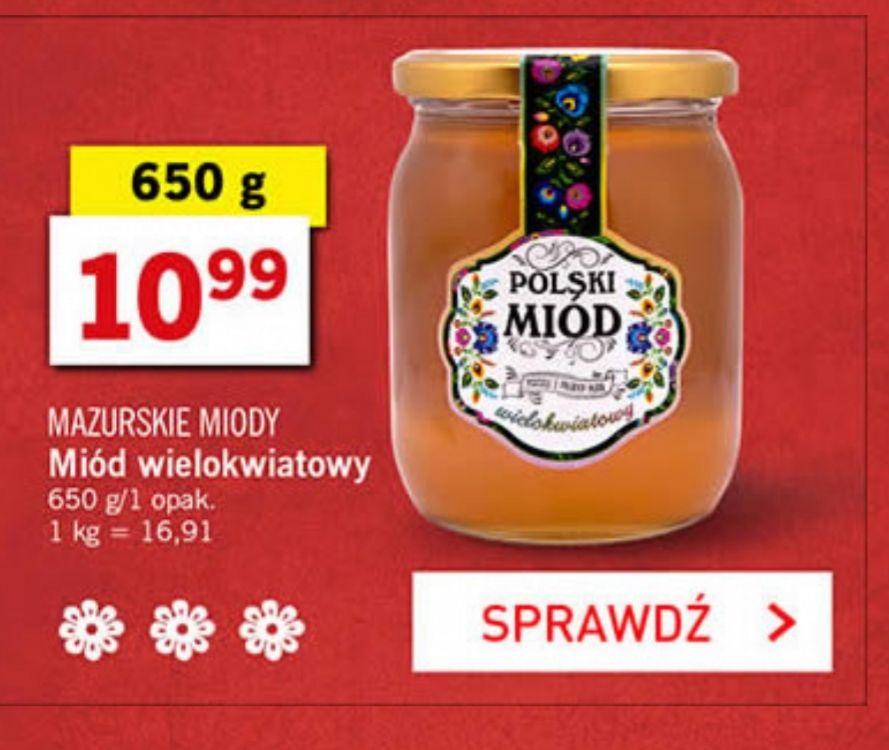 [LIDL] Polski miód wielokwiatowy z mazurskich pasiek i inne