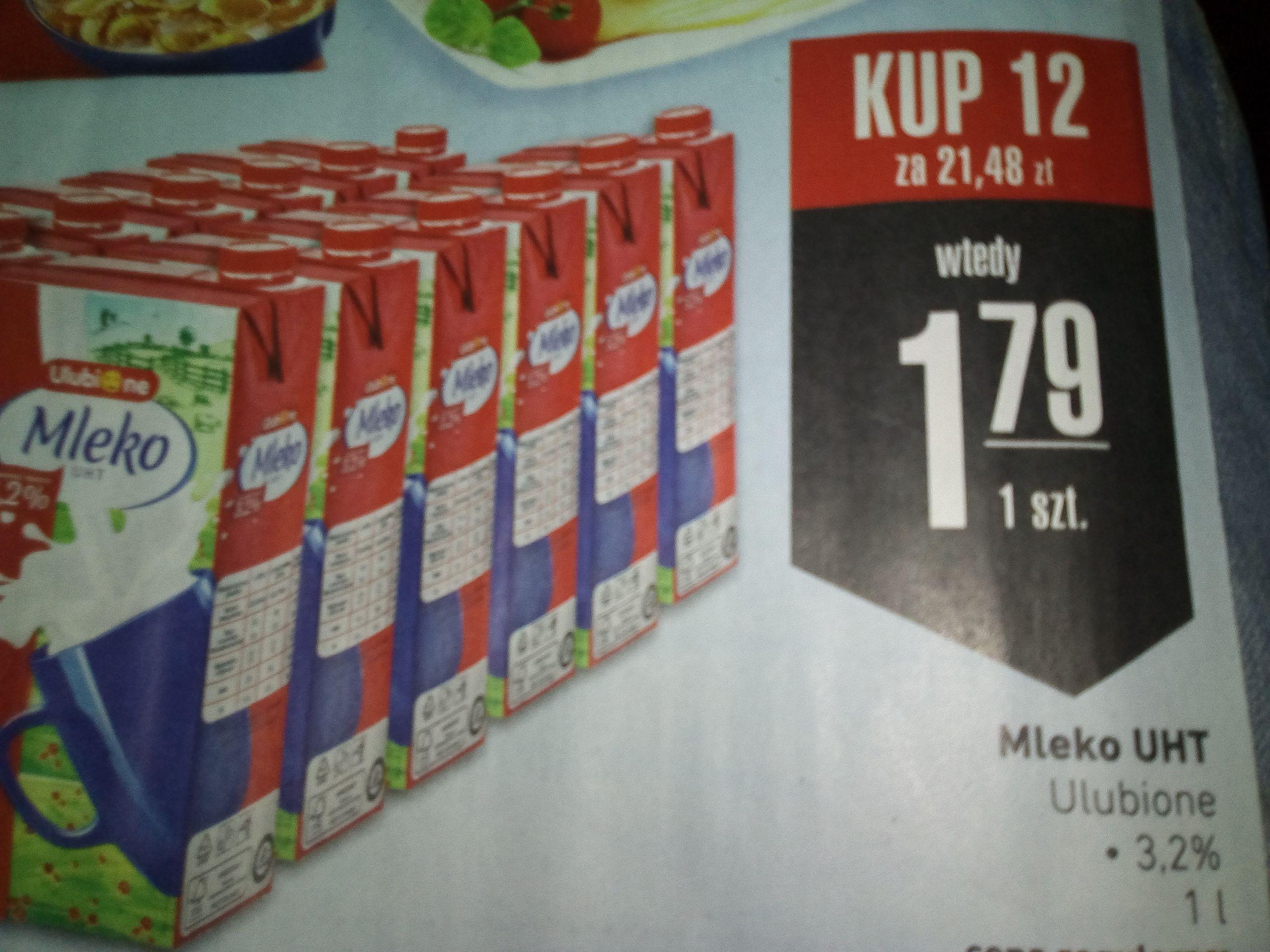 Mleko 3,2% przy zakupie 12sztuk Intermarche