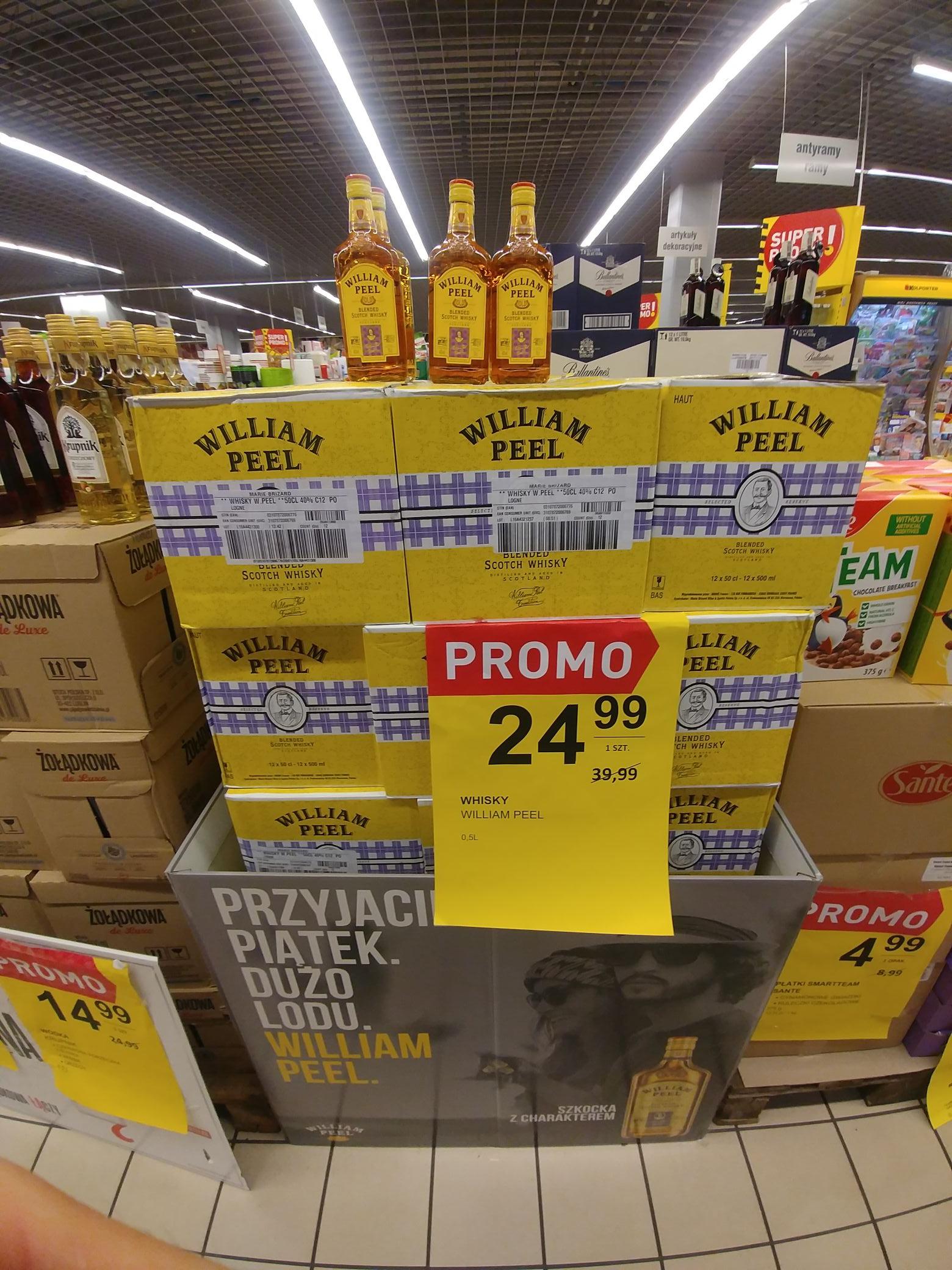 Whisky William Peel 0.5l za 24.99 zł w Intermarche Galeria Leszno