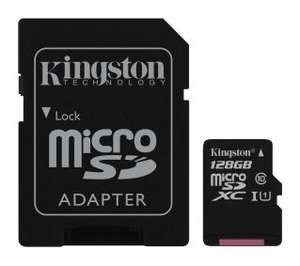 Kingston Canvas Select microSDXC 128GB UHS-I + adapter