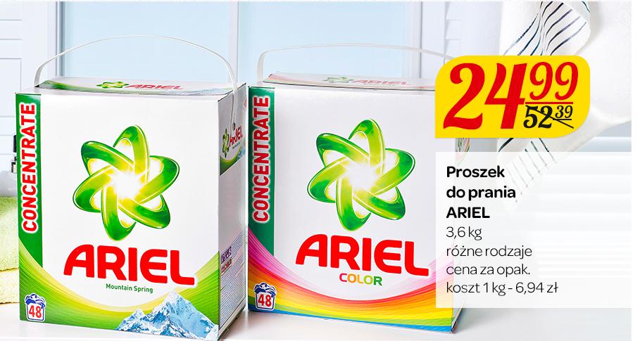 Proszek do prania Ariel 3,6kg taniej o ponad połowę @ Carrefour