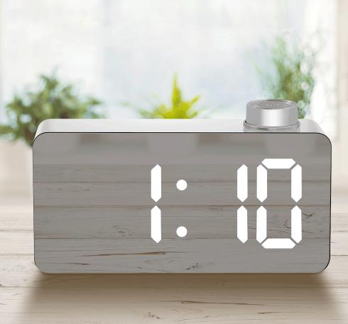 Zegar na biurko LED lustro budzik