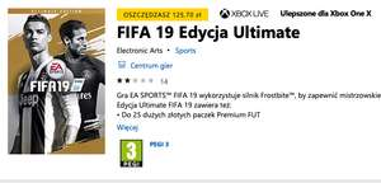 FIFA 19 Edycja Ultimate Xbox