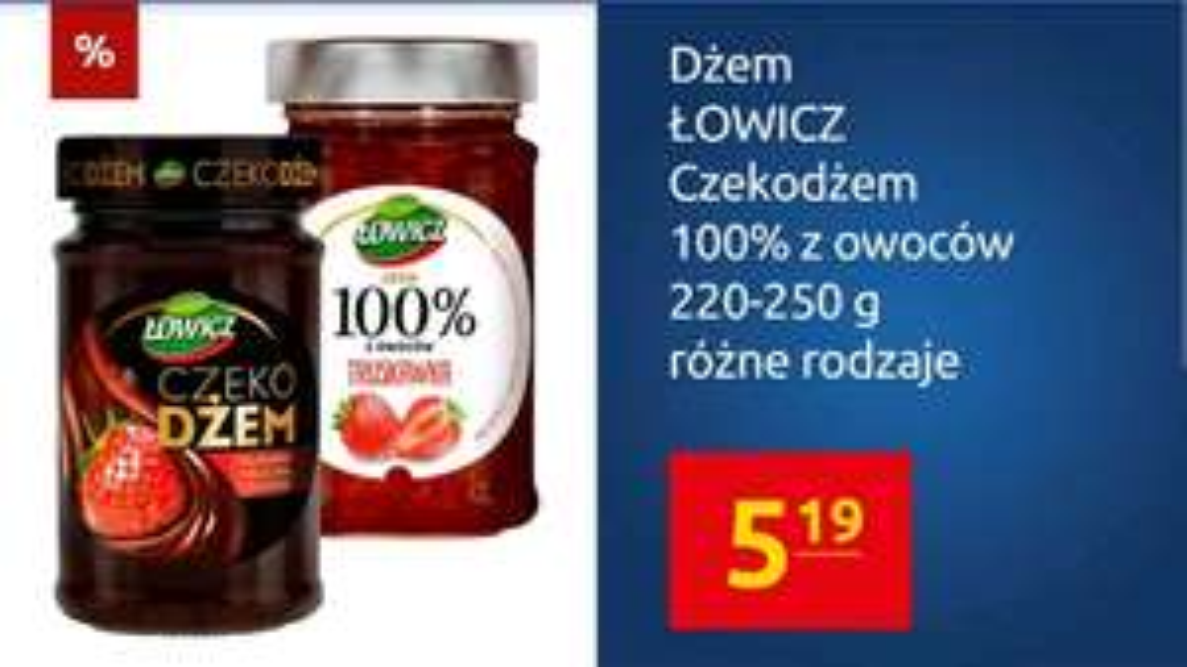 Czekodżem Łowicz lub dżem 100% owoców w Carrefour z aplikacją