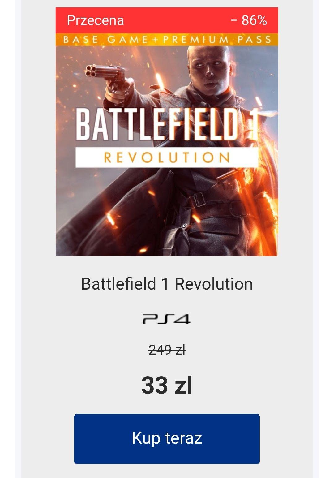 PS Store Battlefield 1 Revolution