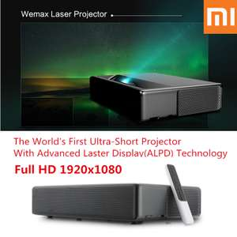 "Projektor laserowy WEMAX ONE PRO 150"" 7000 lumenów FHD 4K Bluetooth Wifi"