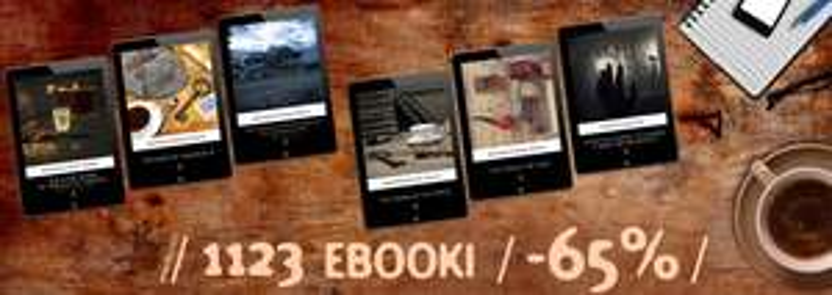1123 ebooki 60% taniej (od 3,23 zł) @ ebookpoint