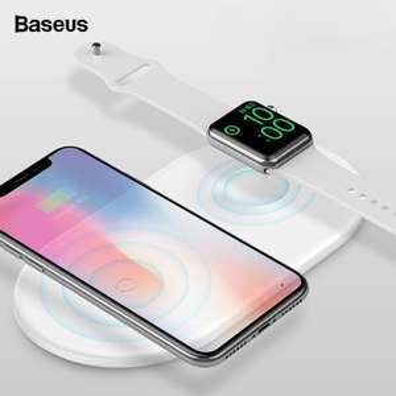 Baseus 2 in 1 QI - ładowarka do zegarka i telefonu Apple