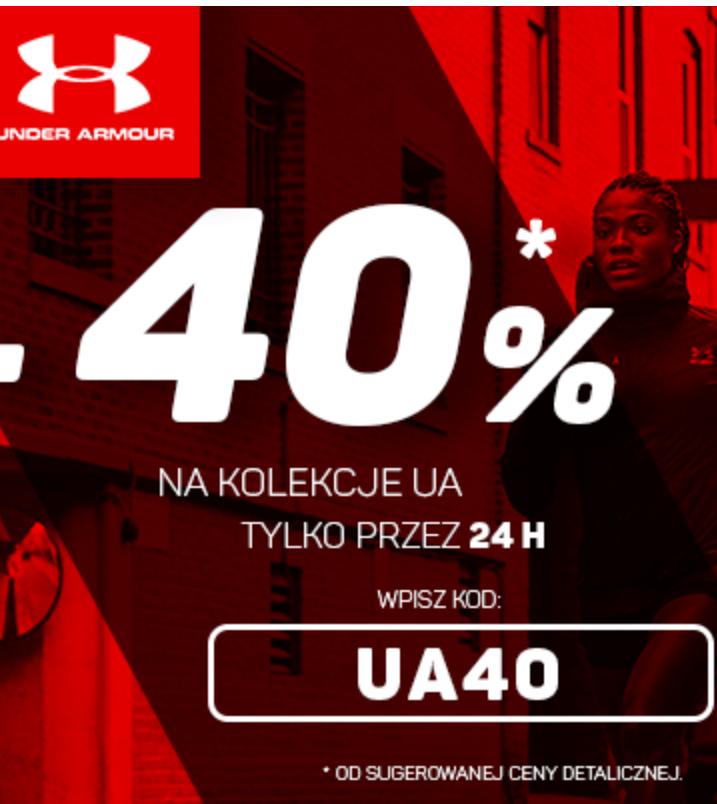 -40% na rzeczy Under Armour 24h