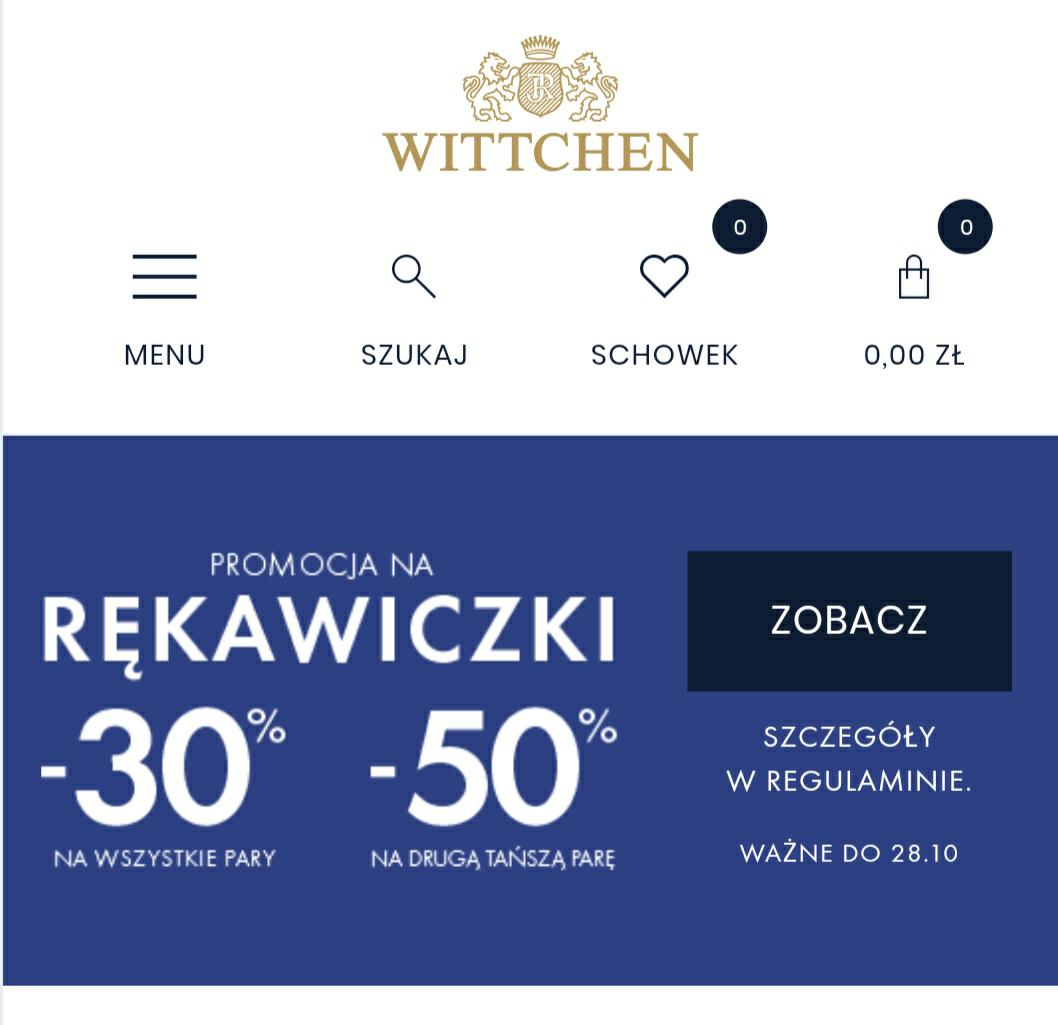 Wittchen ®️ 30%  taniej na rękawiczki