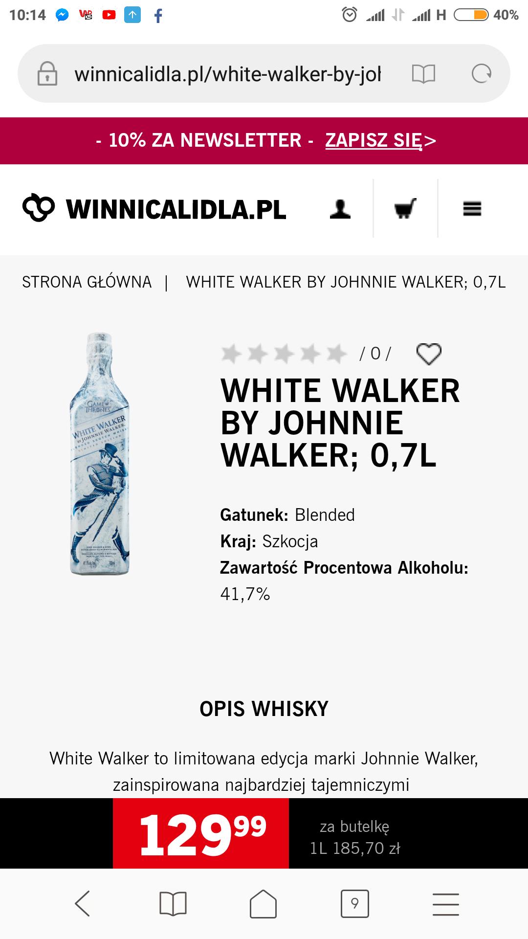 Whisky White Walker by Johny Walker - Lidl
