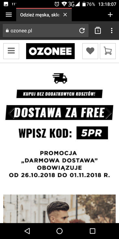 Darmowa dostawa  ozonee.pl