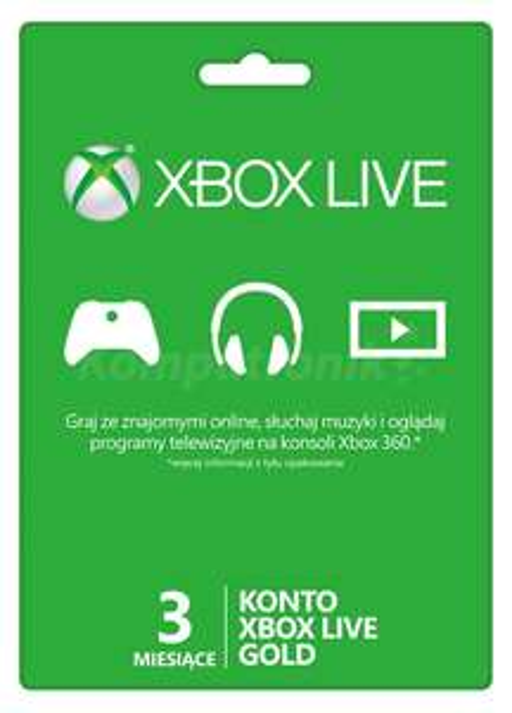 Xbox Live Gold 3 Miesiące @CDkeys