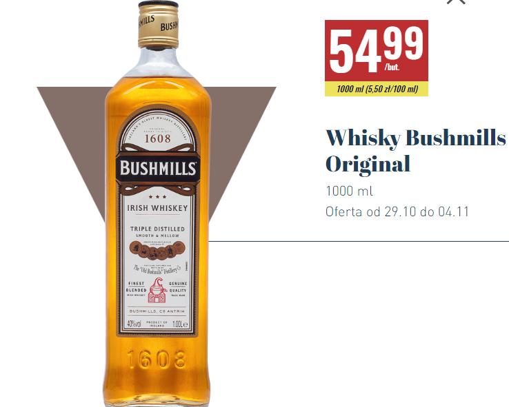 Bushmills Original Irish Whiskey 1L Biedronka