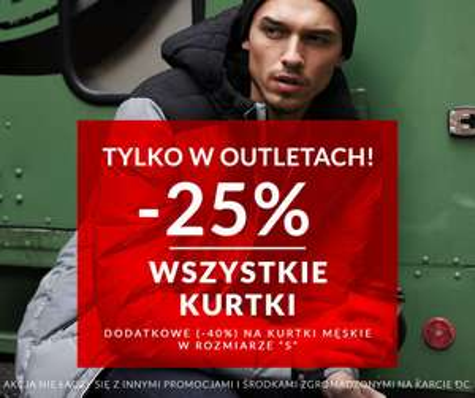 -25% na wszystkie kurtki, rozmiar S taniej o dodatkowe -40% @ Diverse Outlet