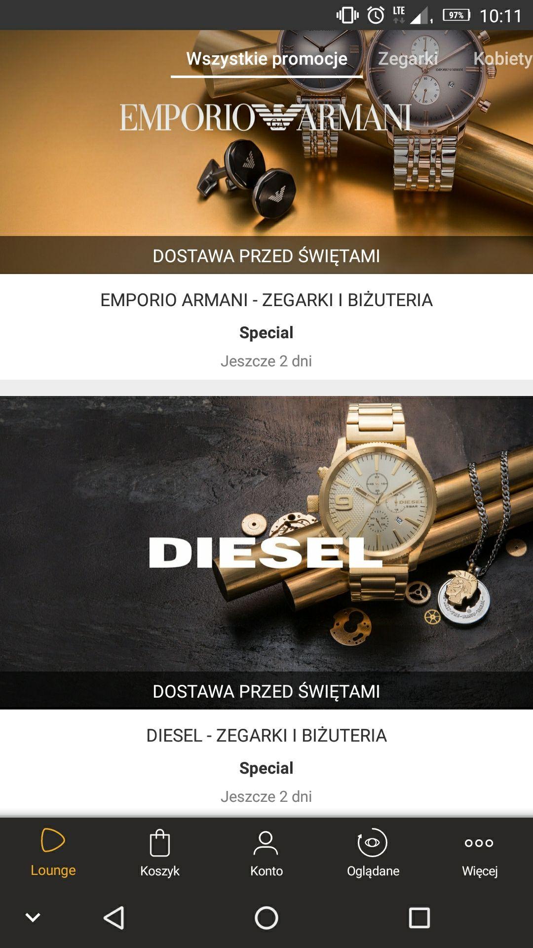 Zegarki Diesel i Emporio Armani - Zalando lounge