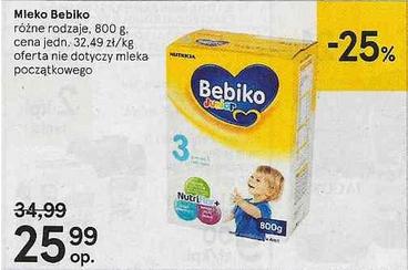 Mleko Bebiko 800g za 25,99zł @ Tesco