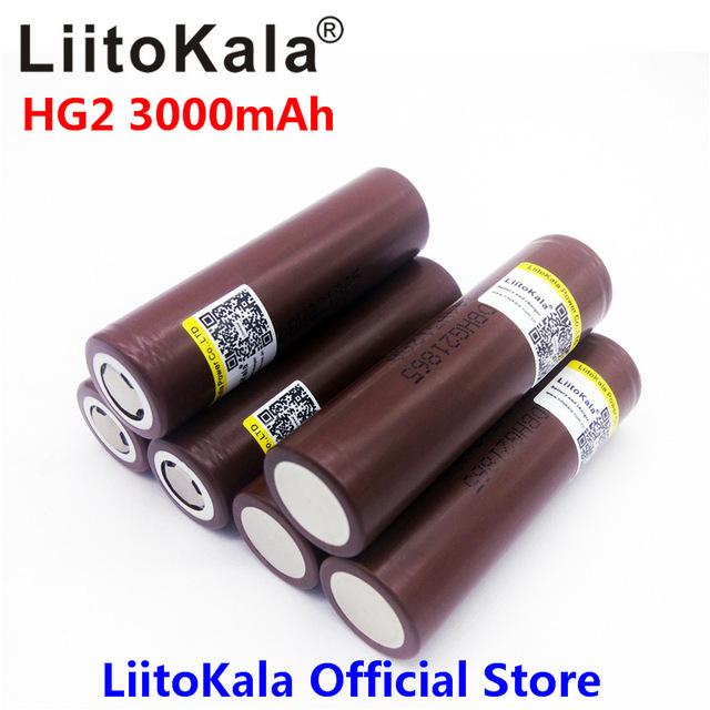 Akumulatory 18650 LiitoKala HG2 3000 mah