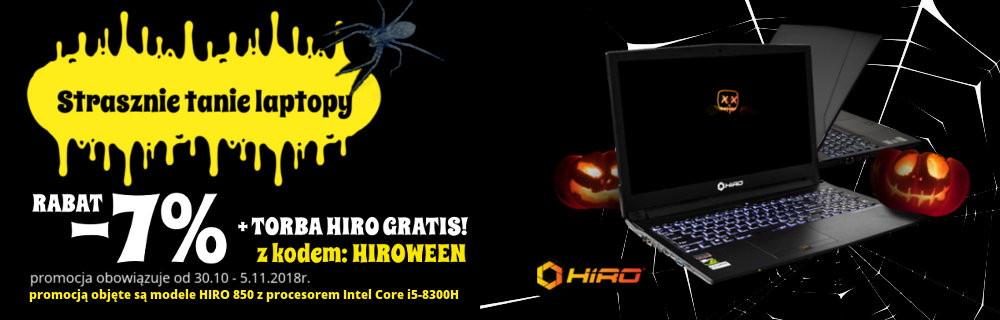 Promocja na laptopy HIRO  -7% + torba HIRO