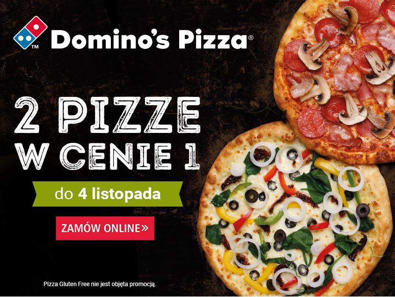 2 pizze w cenie 1 w Domino's Pizza tylko do niedzieli 4.11
