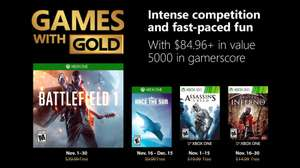 Games With Gold Xbox Listopad 2018 [Xbox One & Xbox 360] Battlefield 1