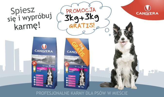 profesjonalna karma Canivera 3kg za 59zł + 3kg GRATIS  @ kar-ma.pl